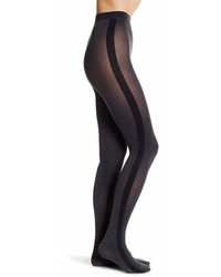 DKNY Tuxedo Side Stripe Knit Tights