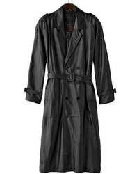 Excelled nappa leather trench coat medium 82574