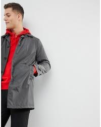 Mango Man Water Repellent Trench Coat In Dark Grey