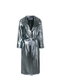 Alberta Ferretti Metallic Oversized Coat