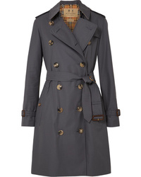 Burberry The Kensington Cotton Gabardine Trench Coat
