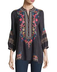 Sarabeth 34 sleeve georgette tunic plus size medium 4380954