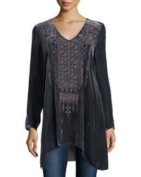 Sassi long sleeve velvet tunic plus size medium 826630