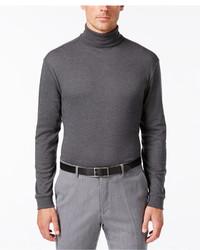 John Ashford Big And Tall Long Sleeve Turtleneck Interlock Shirt
