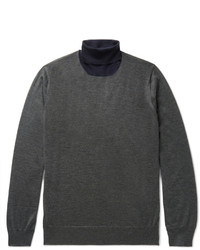 Cashmere and silk blend rollneck sweater medium 4156216