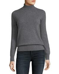 Neiman Marcus Cashmere Collection Classic Cashmere Turtleneck Plus Size