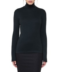 Cashmere silk jersey turtleneck top medium 5361304