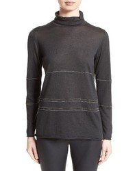 Cashmere silk turtleneck sweater medium 4468747