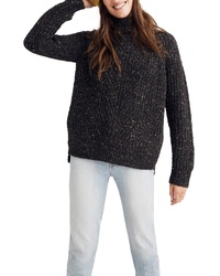 Madewell Colorfleck Ribbed Turtleneck Sweater