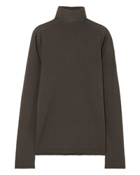 Rick Owens Cutout Wool Turtleneck Sweater