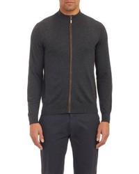 Piattelli Full Zip Sweater Black
