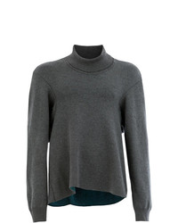 Hed Mayner High Neck Knit Sweater