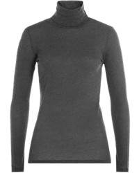 Majestic Cotton Turtleneck Pullover With Cashmere