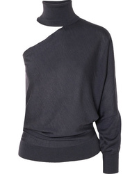 Brunello Cucinelli One Shoulder Cutout Cashmere And Turtleneck Sweater
