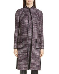 St. John Collection Painterly Sheen Tweed Knit Topper