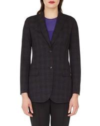 Akris Speckled Wool Tweed Blazer