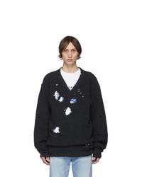 Vetements Grey Tribute V Neck Sweater
