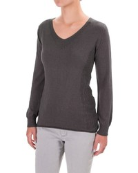 Parkhurst Henrietta V Neck Sweater Rolled Hem