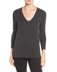 Petite halogen v neck cashmere sweater medium 952059