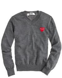 J.Crew Play Comme Des Garons V Neck Sweater