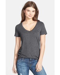 Bp v neck tee charcoal medium medium 410551