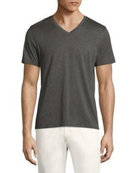 Theory Cly Plaito Regular Fit V Neck Tee