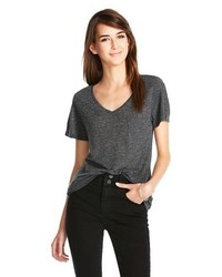 Mossimo V Neck Linenpoly Tee With Pocket