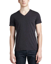 Theory V Neck Silk Cotton T Shirt