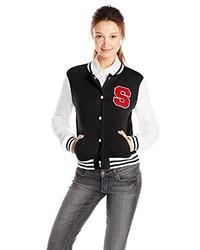 Southpole Juniors Fleece Varsity Jacket With S Logo On Chest