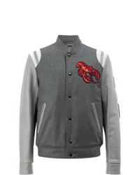 Lanvin Lobster Embroidered Baseball Jacket