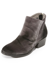 Charcoal Velvet Ankle Boots