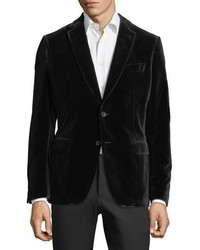 Salvatore Ferragamo Velvet Two Button Blazer