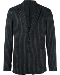 Charcoal Vertical Striped Blazer