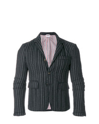 Thom Browne Articulated Chalk Striped Flannel Sport Coat