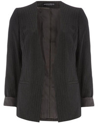 Dorothy Perkins Grey Stripe Edge To Edge Blazer