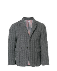 Ribbed baby cable cashmere sport coat medium 7804035