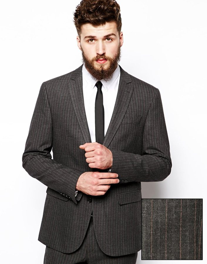Asos Slim Fit Suit Jacket In Pinstripe | Where to buy & how to wear
