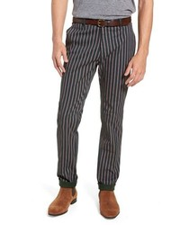Charcoal Vertical Striped Chinos