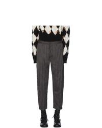 Ziggy Chen Black Striped Carrot Trousers