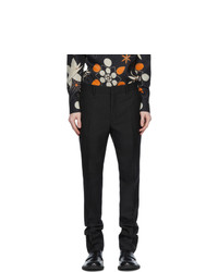 Fendi Grey Jacquard All Over Logo Trousers
