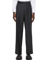 Thom Browne Grey Pinstripe Single Pleat Trousers