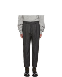 Hope Grey Stripe Cut Trousers
