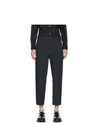 Comme des Garcons Homme Deux Grey Textured Dobby Trousers