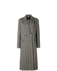 Stella McCartney Striped Double Breasted Coat