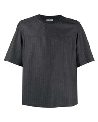 Salvatore Ferragamo Pinstripe Pattern T Shirt