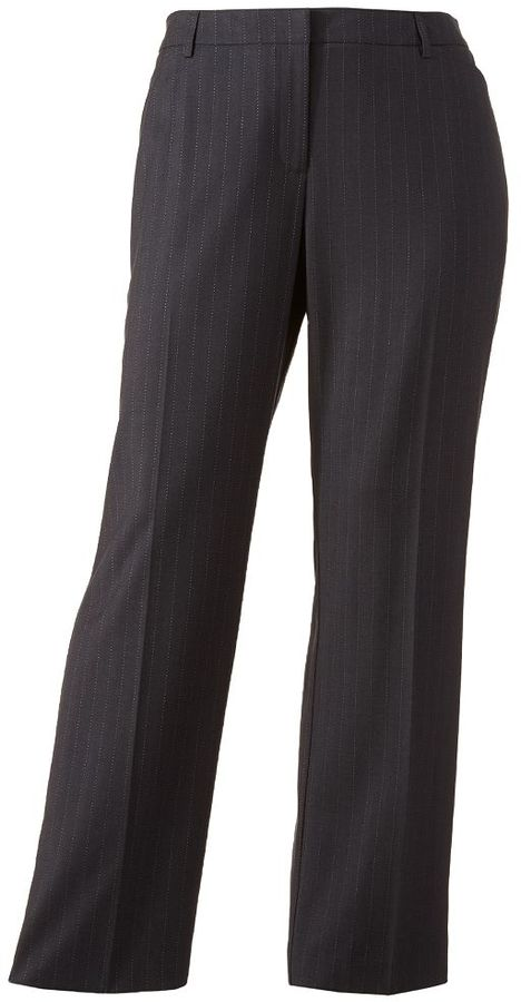 0c6aeb7af31 ... 212 Collection Pin Striped Straight Leg Pants Plus ...