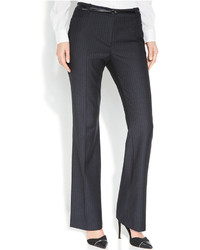 Belted pinstriped trousers medium 193607