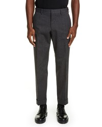 Dries Van Noten Cuffed Pinstripe Dress Pants