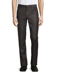 Robert Graham Forth Bridge Pinstripe Wool Pants Charcoal