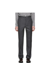 Cobra S.C. Grey Wool Pinstripe Classic Trousers